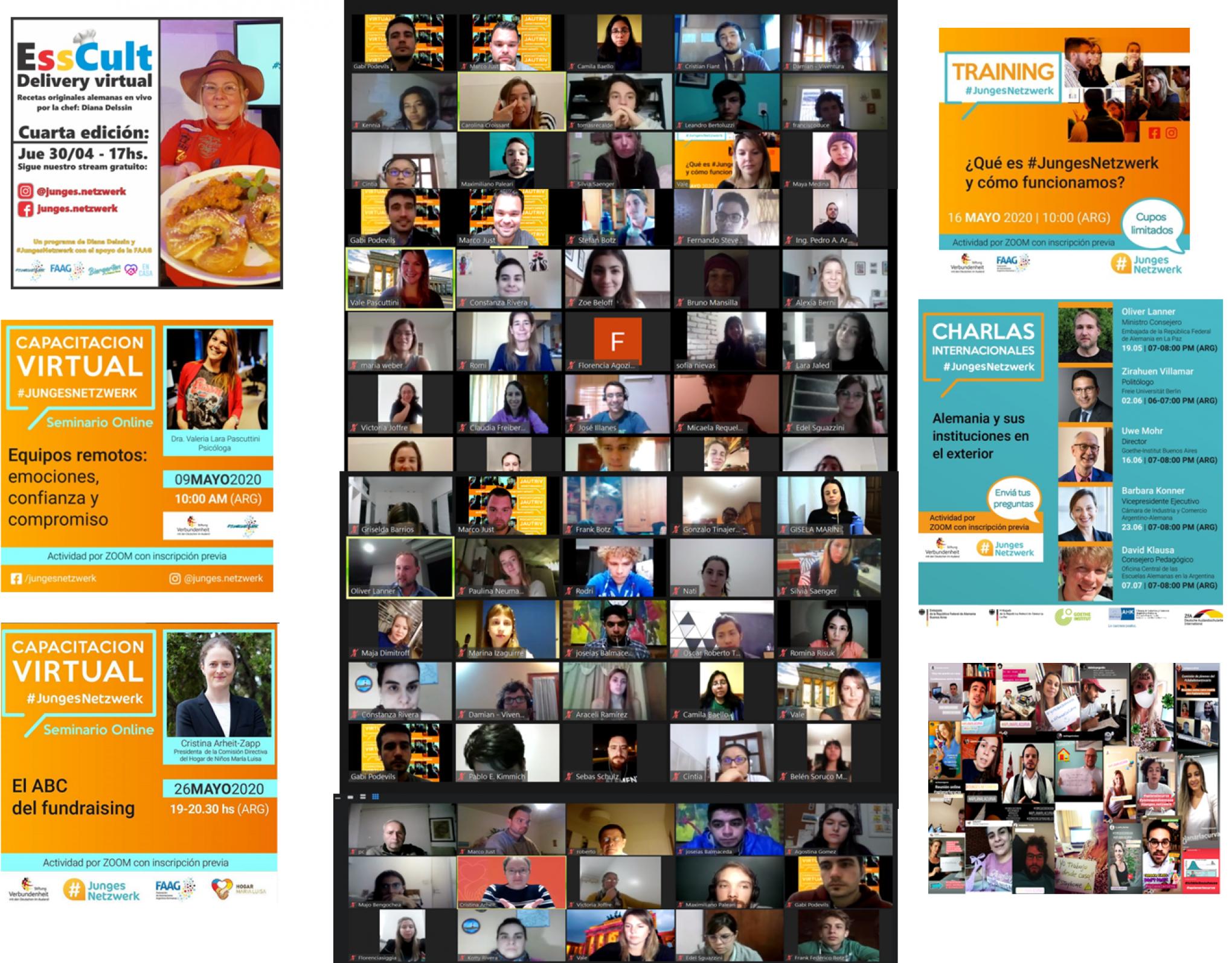 Online-Aktivitäten der Stiftung Verbundenheit in den letzten Monaten.